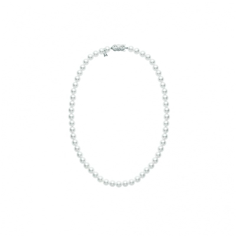 Mikimoto Akoya Pearl Princess Strand Necklace in 18kt White Gold