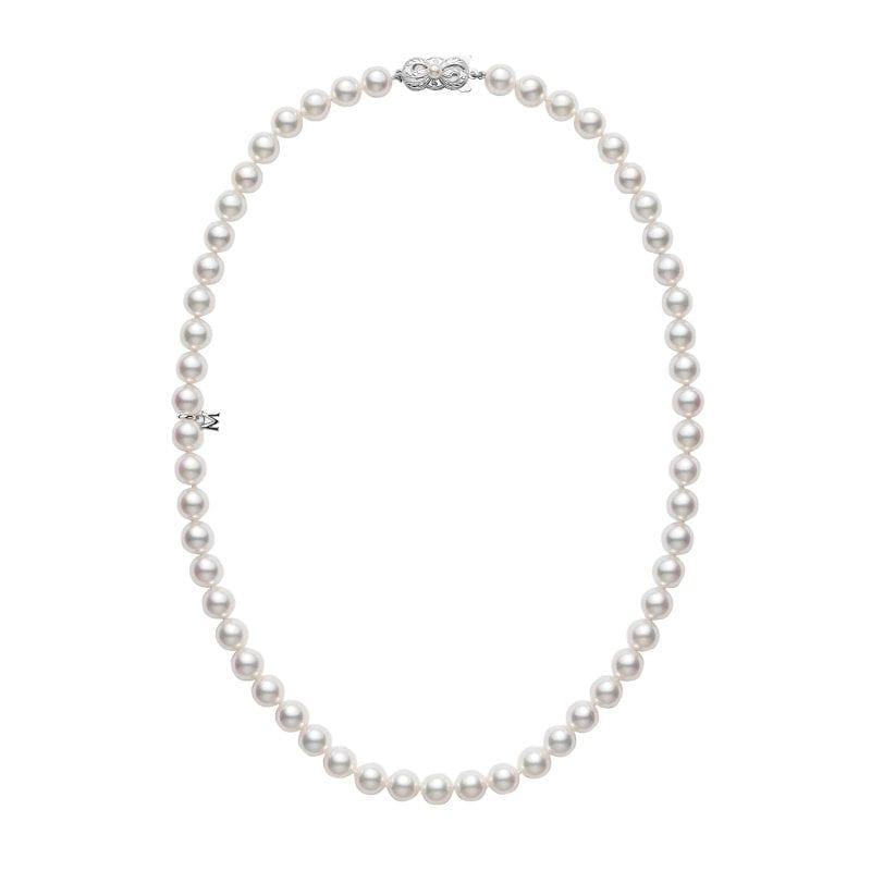 Mikimoto Akoya Pearl Princess Strand Necklace in 18k White Gold