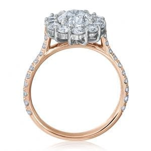 Oval Halo Engagement Ring Setting