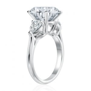 Engagement Ring Semi Mount with 2 Pear Shaped Diamonds
