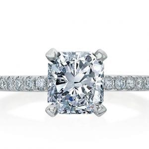 Cushion Cut Solitare Engagement Ring Setting