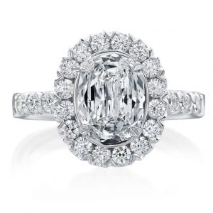 Christopher Designs L'Amour Oval Halo Engagement Ring Setting