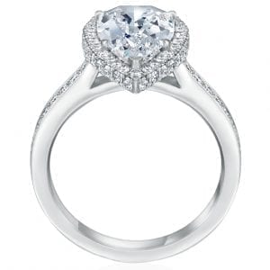 Pear Diamond Engagement Ring Halo Setting