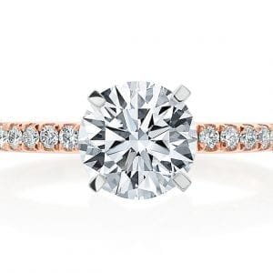 Pave Diamond Engagement Ring Mounting