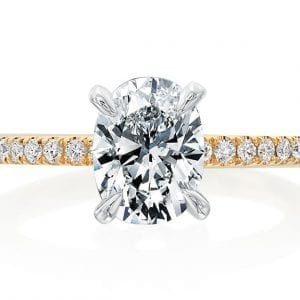 Forevermark Oval Diamond Engagement Ring Setting
