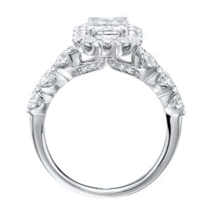 Emerald Cut Halo Engagement Ring Setting (Copy)