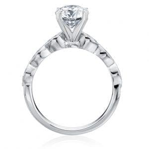 Round Scalloped Engagement Ring Setting