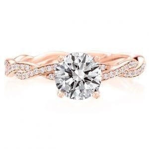 Round Engagement Ring Twist Setting