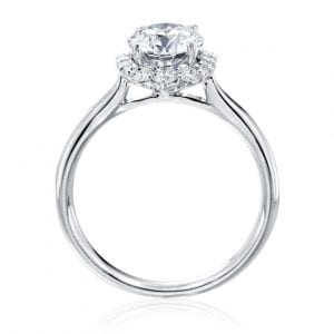 Round Halo Engagement Ring Setting