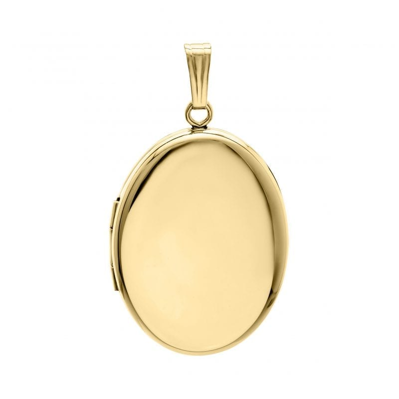 Oval Locket in 14k Yellow Gold Filled Necklace