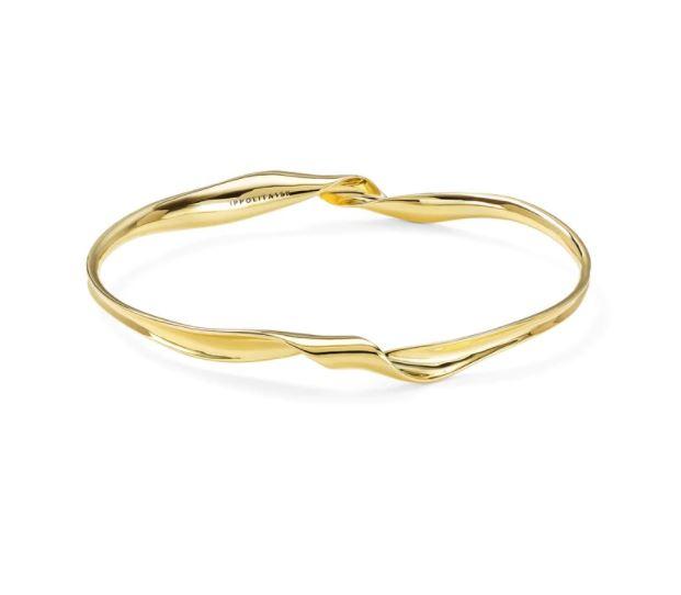 Ippolita 18K Yellow Gold Classico Twisted Ribbon Bangle