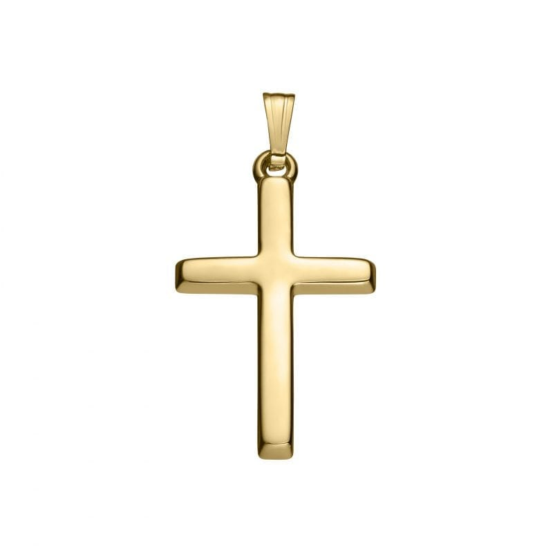 Cross Pendant Necklace in 14kt Yellow Gold