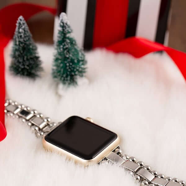 Apple watch with stainless steel bracelet