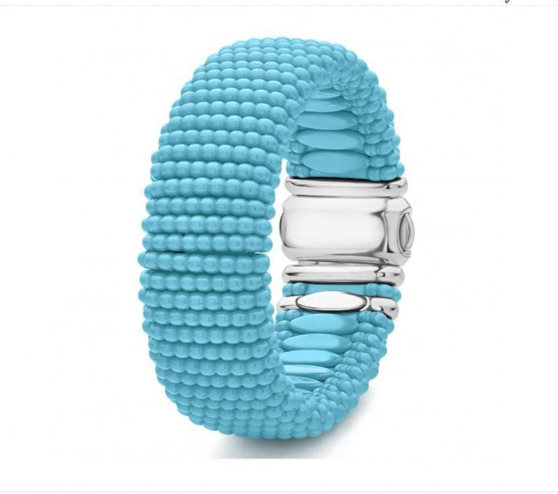Lagos Blue Caviar 23mm Beaded Bracelet