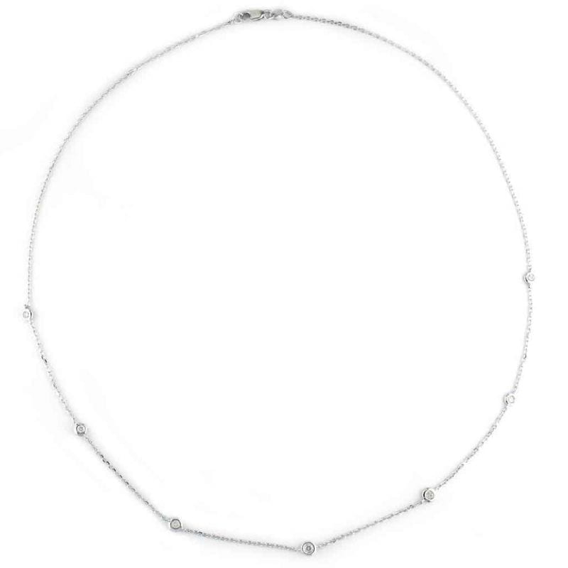 Diamonds By The Yard Necklace in Sterling Silver