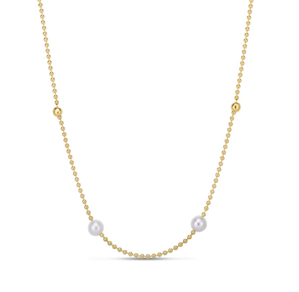 Roberto Coin 18k Yellow Gold Pearl Strand Necklace