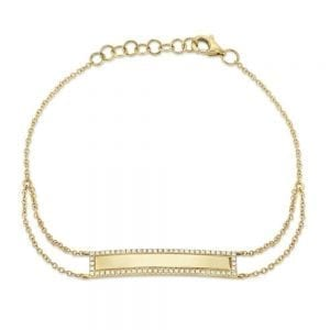 Bailey's Heritage Collection Pave Edge ID Bracelet
