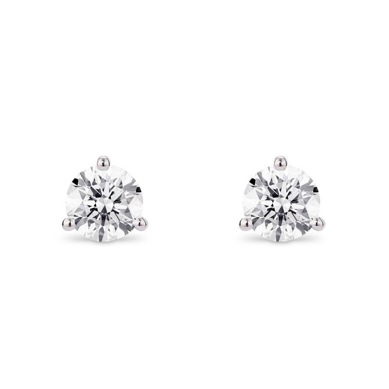 Lightbox Lab-Grown 1.00ct Diamond Stud Earrings in 10k White Gold