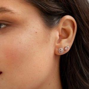 Lightbox Lab-Grown .50ct Pink Diamond Stud Earrings in 10k Rose Gold