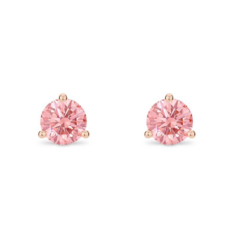 Lightbox Lab-Grown 1.00ct Pink Diamond Stud Earrings in 10k Rose Gold