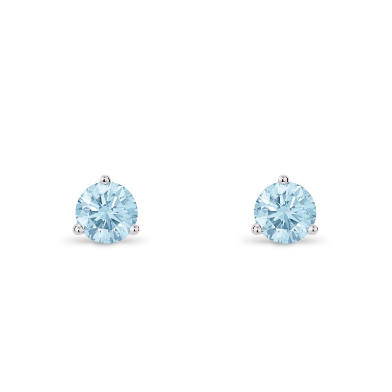 Lightbox Lab-Grown .50ct Blue Diamond Stud Earrings in 10k White Gold