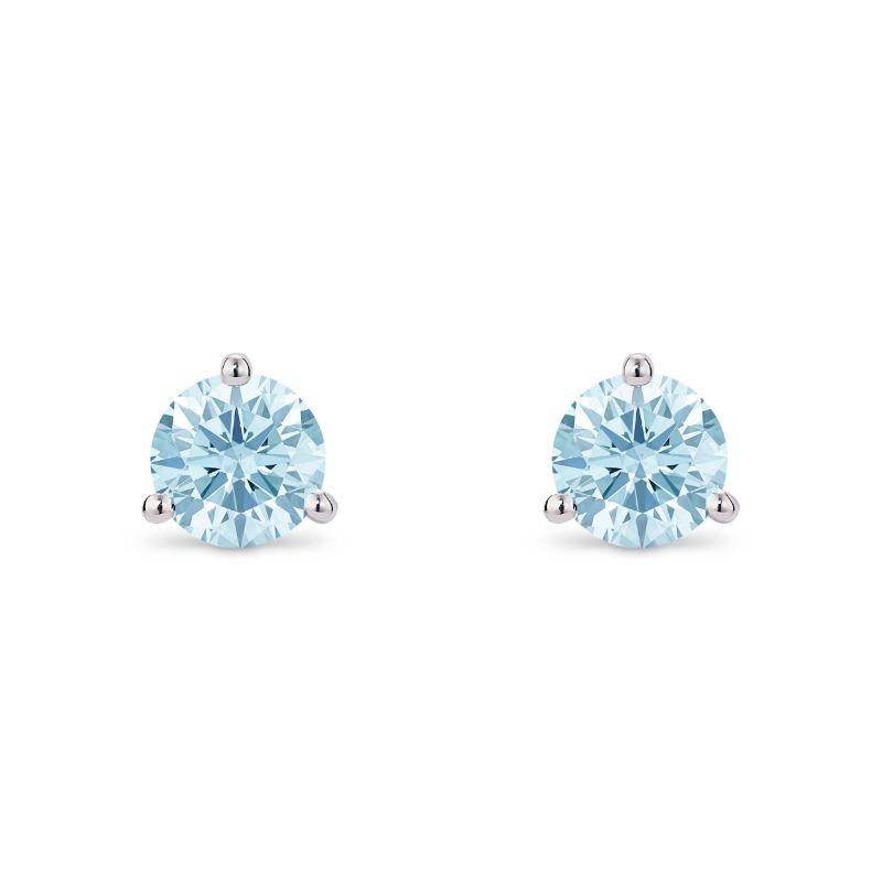 Lightbox 1.00ct Lab-Grown Blue Diamond Stud Earrings