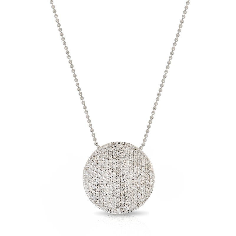 Phillips House Affair 14kt White Gold Large Infinity Necklace with Pave Diamonds