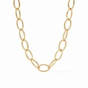 Julie Vos 24k Yellow Gold Plate Fleur-de-Lis Necklace