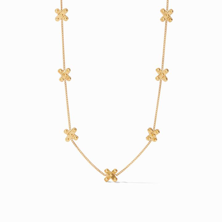 Julie Vos 24k Yellow Gold Plate SoHo Delicate Station Necklace