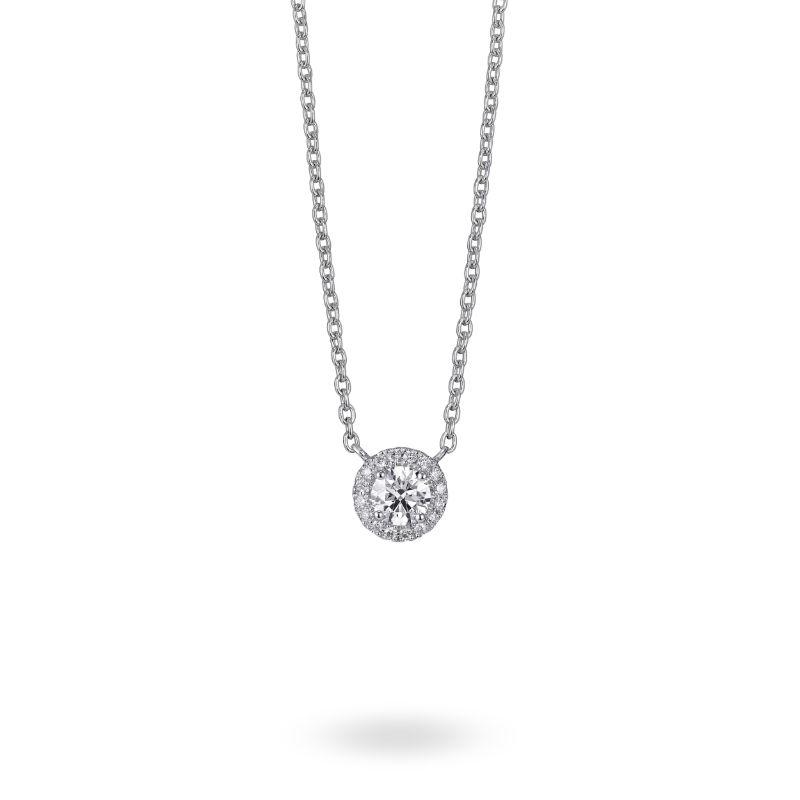 Lightbox Lab-Grown .50ct Diamond Halo Necklace