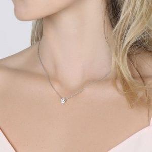Lightbox Lab-Grown .50ct Diamond Pendant Necklace in 10k White Gold
