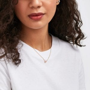 Lightbox Lab-Grown .50ct Pink Diamond Pendant Necklace in 10k Rose Gold