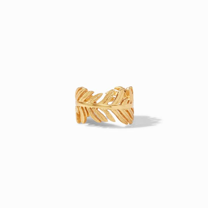 Julie Vos 24k Yellow Gold Plate Fern Ring