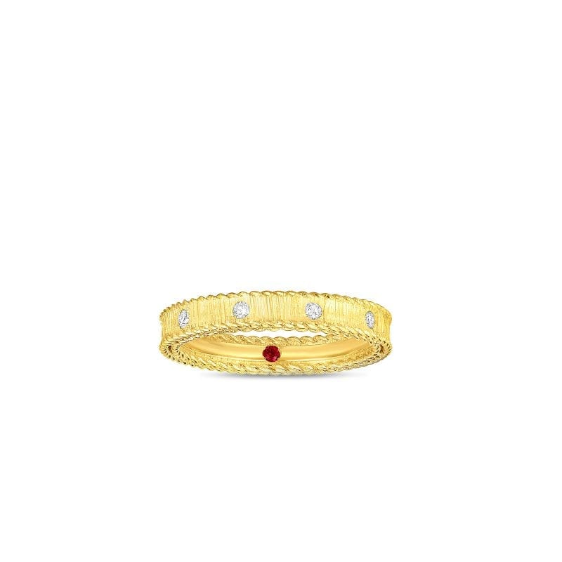 Roberto Coin 18k Yellow Gold Princess Ring with Diamonds