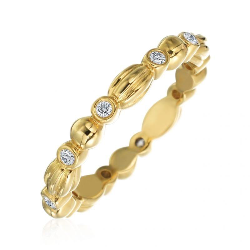 Gumuchian Nutmeg Diamond Stackable Ring
