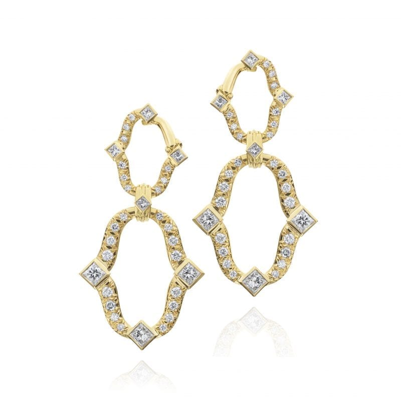 Gumuchian Secret Garden 18k Yellow Gold Diamond Drop Earrings