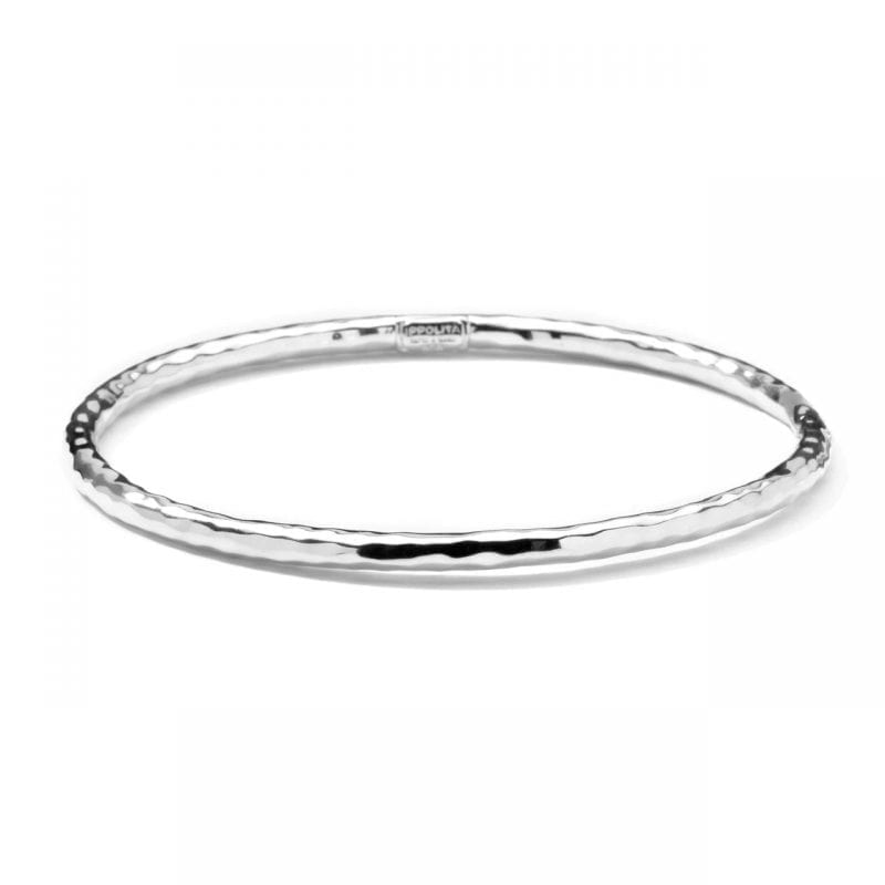 Ippolita Classico Sterling Silver #1 Hammered Bangle