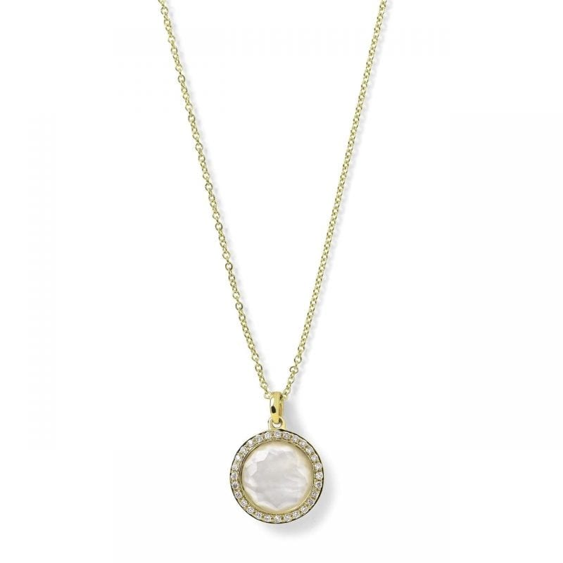 Ippolita 18k Yellow Gold Small Pendant Necklace in Mother-of-Pearl