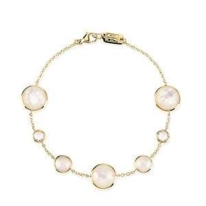 Ippolita 18k Yellow Gold 7-Stone Link Bracelet in Flirt