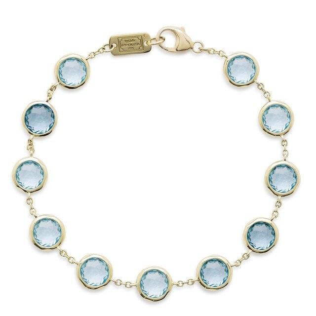 Ippolita Swiss Blue Topaz Stone Bracelet in 18k Yellow Gold