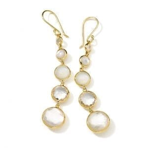 Ippolita 18k Yellow Gold Lollitini 5-Stone Drop Earrings in Flirt
