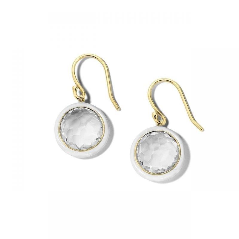 Ippolita 18k Yellow Gold Drop Earrings in Rock Crystal