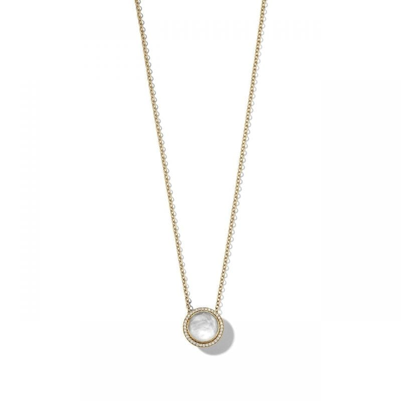 Ippolita 18k Yellow Gold Carnevale Stone Necklace in Mother-of-Pearl