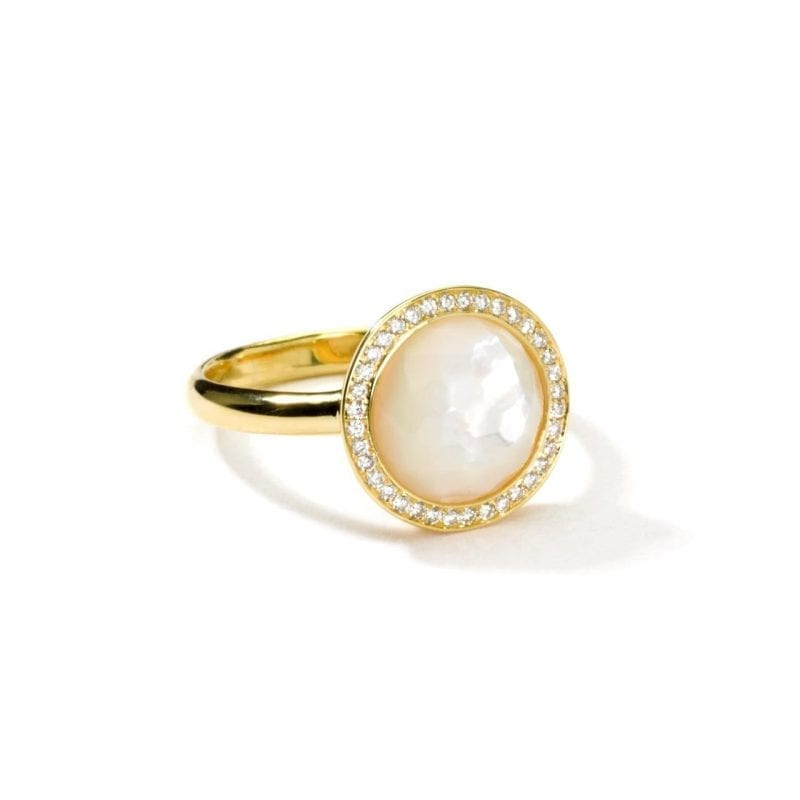 Ippolita 18k Yellow Gold Small Ring in Mother-of-Pearl