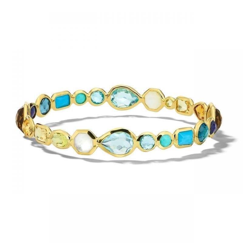 Ippolita 18k Yellow Gold Hero Gelato Bangle Bracelet in Oasis
