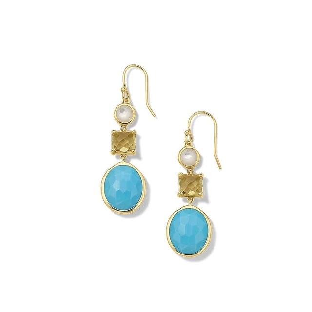 Ippolita 18k Yellow Gold 3-Stone Drop Earrings in Oasis
