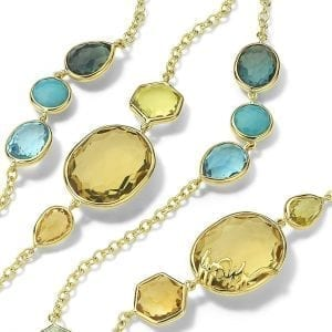 Ippolita 18k Yellow Gold Long Station Necklace in Oasis