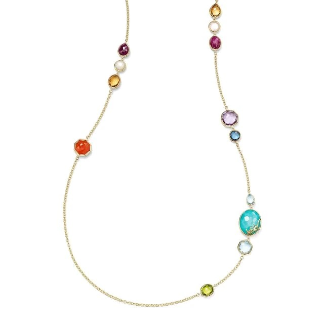 Ippolita 18k Yellow Gold Long Station Necklace in Rainbow