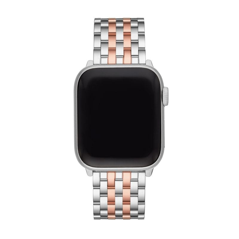 Michele 38/40mm Stainless Steel and 18k Rose Gold Plate Apple Watch Strap