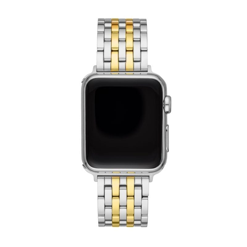 Michele 38/40mm Stainless Steel and 18k Yellow Gold Plate Apple Watch Strap